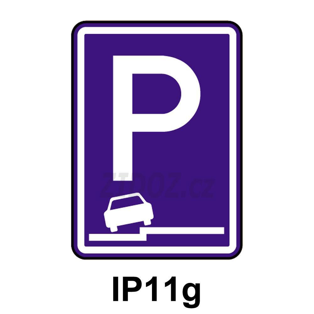 IP11g - Parkoviště (částečné stání na chodníku podélné)