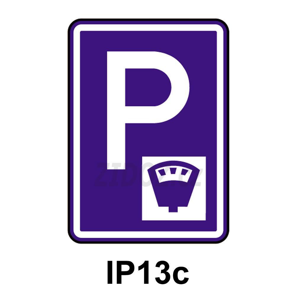 IP13c - Parkoviště s parkovacím automatem