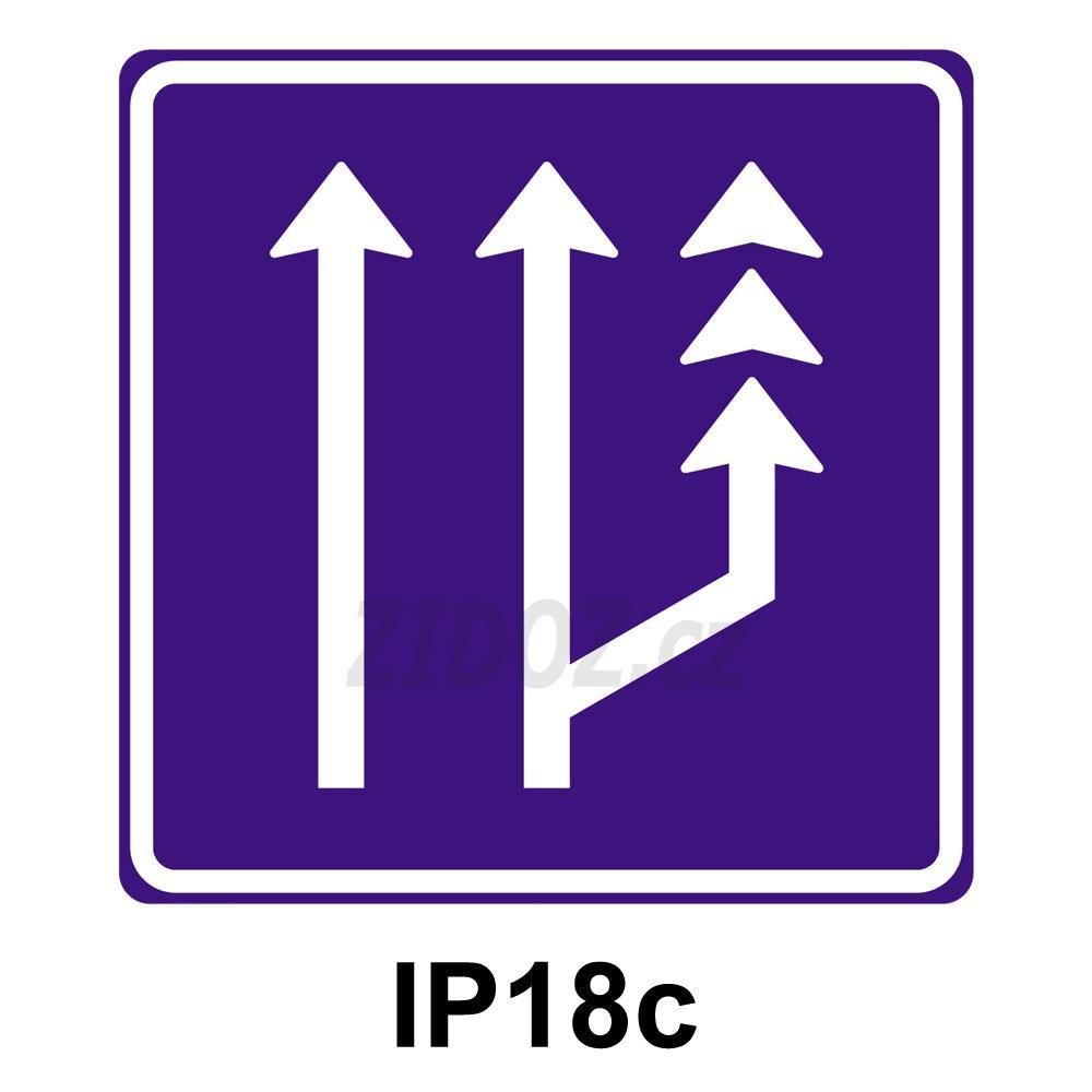 IP18c - Jízdní pruh pro pomalá vozidla