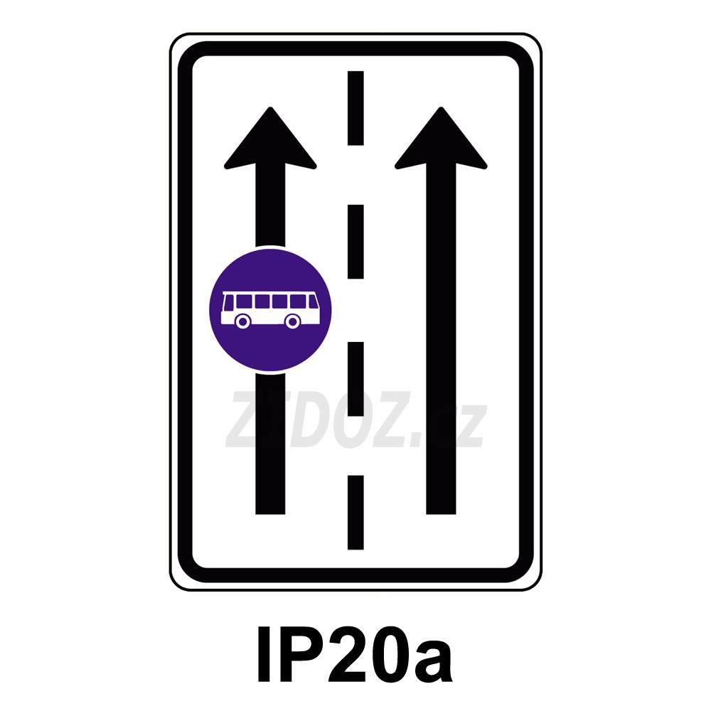 IP20a - Vyhrazený jízdní pruh