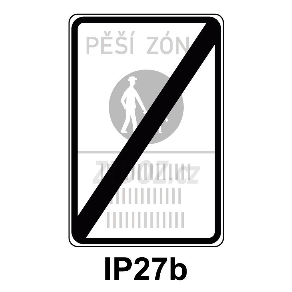 IP27b - Konec pěší zóny