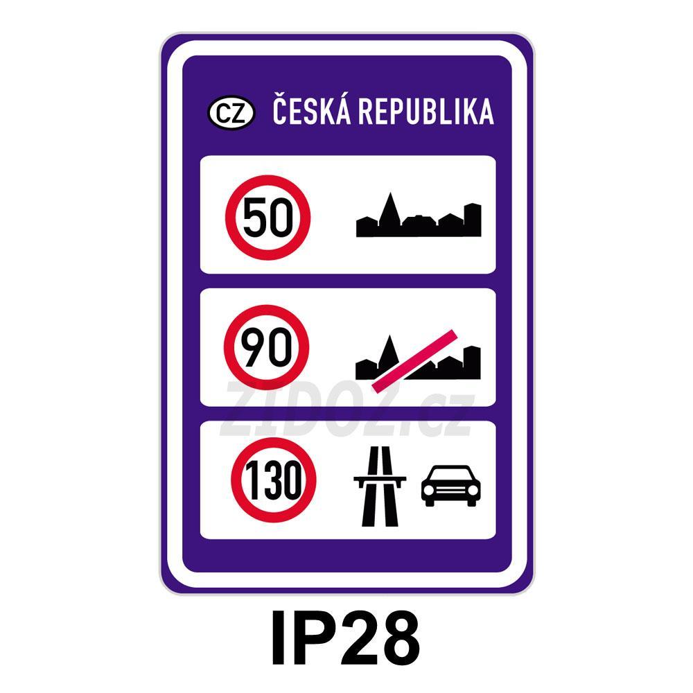 IP28 - Nejvyšší dovolené rychlosti