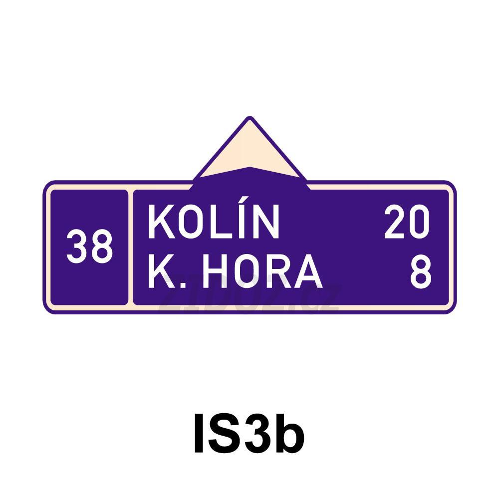 IS03b - Směrová tabule (s dvěma cíli)