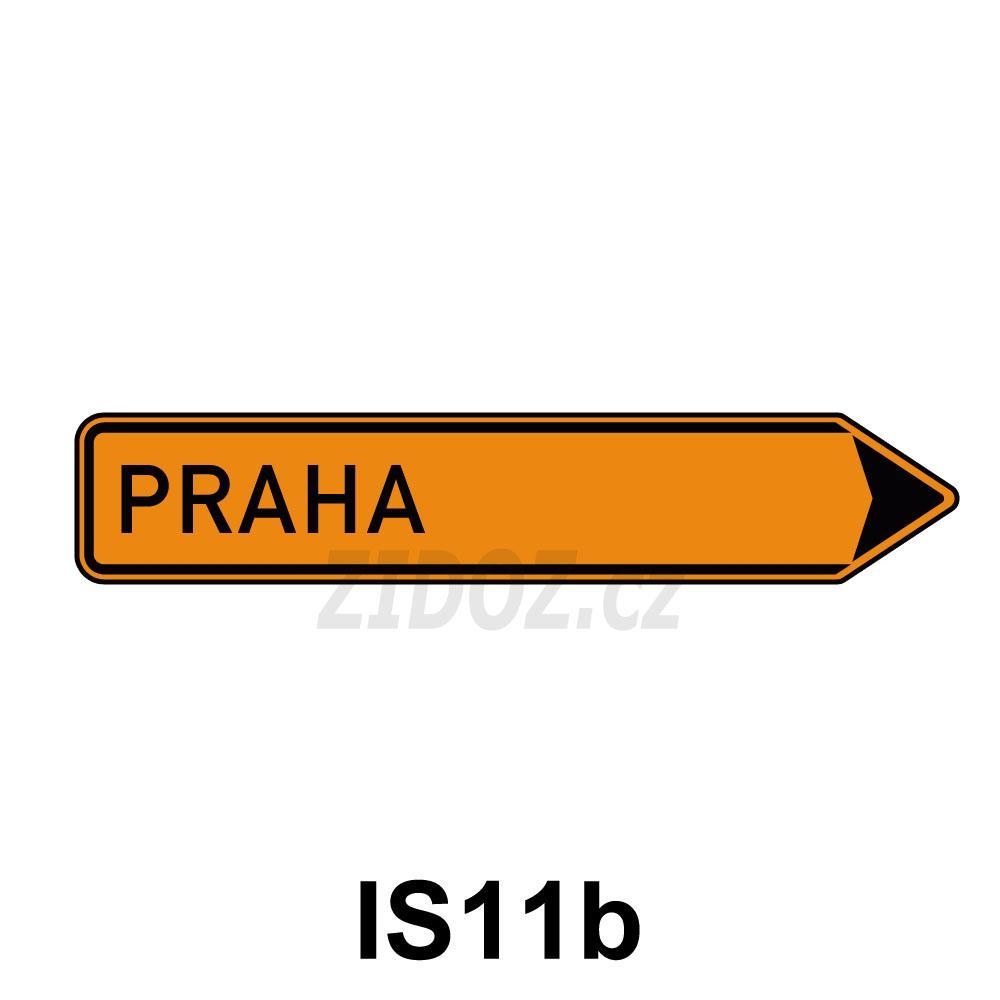 IS11b - Směrová tabule pro vyznačení objížďky