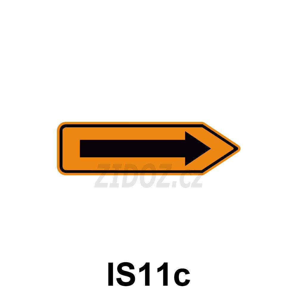 IS11c - Směrová tabule pro vyznačení objížďky