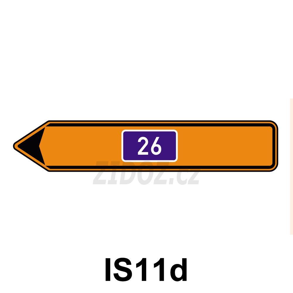 IS11d - Směrová tabule pro vyznačení objížďky