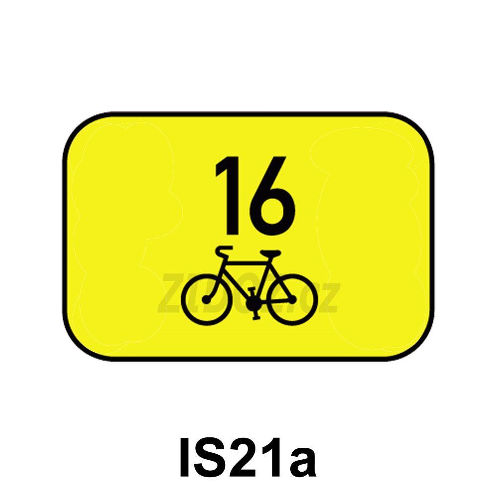 IS21a - Směrová tabulka pro cyklisty