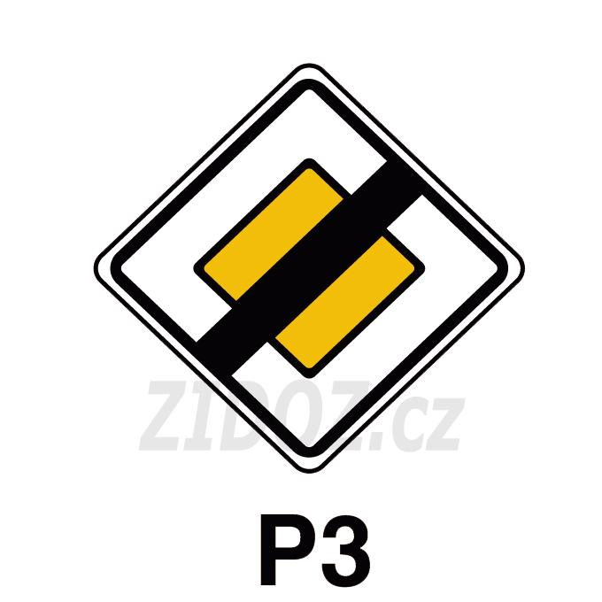 P03 - Konec hlavní pozemní komunikace