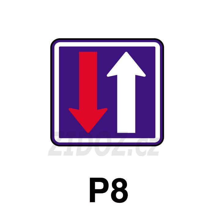 P08 - Přednost před protijedoucími vozidly
